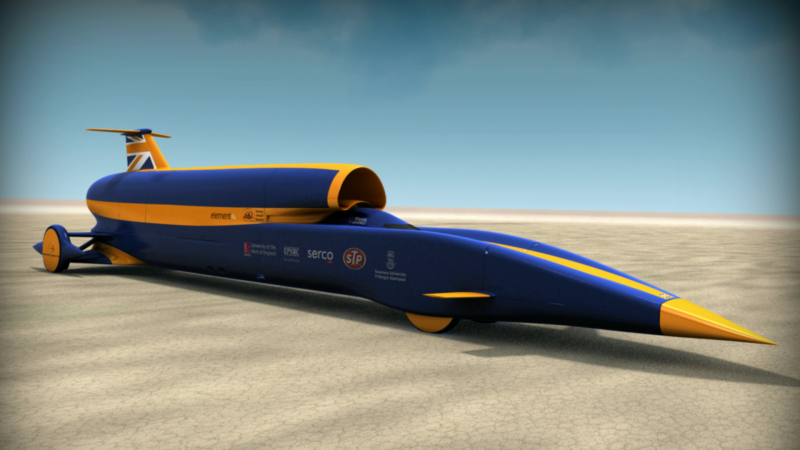 Bloodhound SSC in stereoscopic 3D (via Youtube)