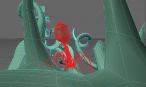 bacteriophage wireframe