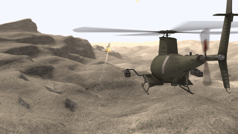 UAV helicopter animation – Secure Satcom Systems