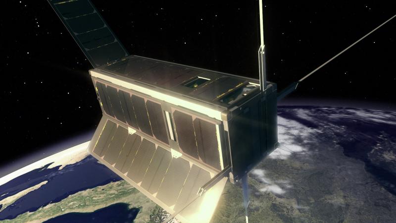 UKube-1 cubesat payload animation