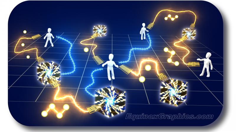 Quantum Network Illustration for University of Stuttgart